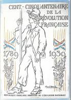 CPA°-1990-Murailles De La Révolution Francaise-Affiche N°58-Muraille Du Souvenir-150ans Ministere Educ Na-Edit Lyna-RARE - Demonstrationen
