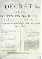 CPA°-1990-Murailles De La Révolution Francaise-Affiche N°17-Citoyens Bléssés En 1792-Edit Lyna-RARE - Demonstrationen