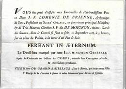 CPA°-1990-Murailles De La Révolution Francaise-Affiche N°04-Bretagne-Affiche Contre Ex Ministres-09/1788-Edit Lyna-RARE - Demonstrationen