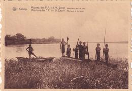 CONGO BELGE / BELGISCH KONGO /  KATANGA / PECHEURS A LA LANCE / VISSERS MET LANS - Congo Belga - Otros