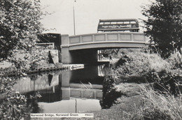 Unused 1950's RP Card? Bus On Norwood Bridge, Norwood Green, Southall - Middlesex