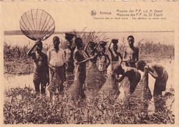 CONGO BELGE / BELGISCH KONGO /  KATANGA / VISSERS MET MAND / PECHEURS  AU PANIER - Congo Belga - Otros