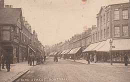 1923 King & Hutchins Card King Street, Southall 1 D G5 Typo Southall CDS - Middlesex