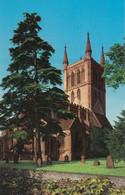 Postcard Pershore Abbey Pershore Worcestershire My Ref B14228 - Worcestershire