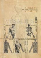 Blok 215** Anatomie Van Het Menselijk Lichaam 4416/20** Andreas Vesalius**  De Humani Corporis Fabrica Vesalius MNH - Libretti 1962-....