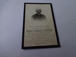 Doodsprentje Priester Huypens Schoot 1842- Eversel 1879 - Religion & Esotérisme