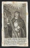 Incisione/engraving: V. THOMASA A SPIRITU SANCTO GRANA - Fine '700 Primi '800-RBCavergno - Religion & Esotericism
