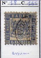 Allemagne - Bade (1862-64) - 6 K.  Oblitere - Baden