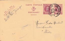 Jodoigne ,( Geldenaken ), Entier Postal Houyoux 15 C + 5 C En 1926, Publicité G Heyne  Grand Place - Jodoigne