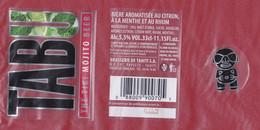 """Polynésie Française / Tahiti - Etiquette De Bière """"TABU Mojito Beer """" / 33 Cl / Plastifiée - TTB - Beer"""