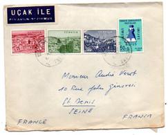 Turquie --1961 --lettre De ANKARA  Pour St DENIS (France)  -- Composition De Timbres ......cachet... - Covers & Documents
