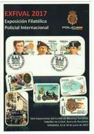 TEMA POLICIAL.  Tarjeta Prefranqueada Exposición Filatélica Policial EXFIVAL 2017 - NUEVA - 1931-....
