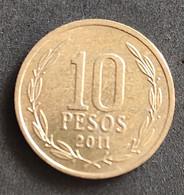 Coin Chile Moeda Chile 2011 10 Pesos 1 - Chili