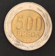 Coin Chile Moeda Chile 2015 500 Pesos 1 - Chili