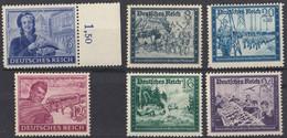 DEUTSCHES REICH - 1944 - Serie Completa Formata Da 6 Valori Nuovi MNH: Yvert805/810. - Nuevos