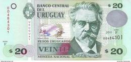 Uruguay (BCU) 20 Pesos Uruguayos 2011 Serie F UNC Cat No. P-86b / UY545f - Uruguay