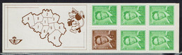 Belgie Belgien - Postzegelboekje - 1972 - OBP B9 - Markenheftchen 1953-....