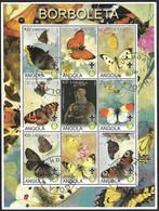 2000 Angola Fauna Insectos Mariposas Scout - Papillons