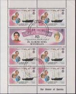 SEYCHELLES 1981  ROYAL WEDDING (3) MINI SHEETS CTO - Seychelles (1976-...)
