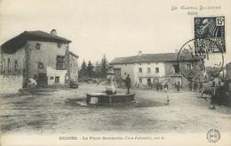 ".CPA FRANCE 15   ""Ruines, Place Gambetta"" - Autres Communes"