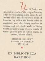 Ex Libris Ex Bibliotheca Bart Bos -  - Ex Libris
