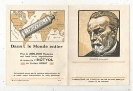 Publicité ,4 Pages ,Laboratoire De L'INOTYOL ,Paris ,17 E , PASTEUR,  2 Scans , 180 X 15 Mm,  Frais Fr 1.95 € - Pubblicitari
