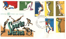 (EE 9) Australia FDC - 1974 - Non Olympic Sports Series - FDC