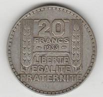 20 F..1933 - L. 20 Franchi