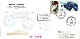 BELLE ENVELOPPE SIGNEE Des TAAF De 1980. N° YT 87 + 90. Parfait état - Unclassified