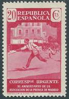 1936 SPAGNA ESPRESSO ASSOCIAZIONE STAMPA DI MADRID 20 CENT MH * - RD54-6 - Correo Urgente