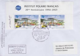 Enveloppe   FDC   1er  Jour   T.A.A.F    Institut  Polaire  Français   2012 - FDC