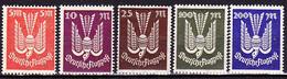 Deutsches Reich German Empire Empire Allemand - Flugpostmarke  (MiNr: 263/7) 1923 - Postfrisch MNH - Unused Stamps