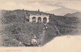 ETNA-CATANIA-BRACCIO GRANDE DI LAVA FREDDA DIETRO GLI ALTARELLI-BELLA ANIMAZIONE-CARTOLINA NON VIAGGIATA -1900-1904 - Catania