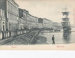 MESSINA-MARINA-CARTOLINA NON VIAGGIATA -1900-1904 - Messina