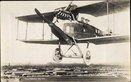 Photo CPA Altengrabow Möckern In Saxe Anhalt, Mann Und Frau In Einem Flugzeug, Fotomontage - Ohne Zuordnung