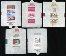 Emballage De Sucre Ancien Raffinerie SAY Nantes Bordeaux Brest Bretagne Vendée Perigord Poitou Lot De 5 Emballages Diffé - Sugars