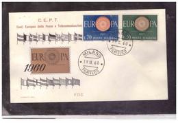 FDC6185  -   MILANO  19.9.1960  /   FDC  EUROPA 1960 - F.D.C.