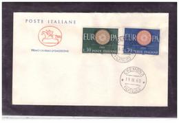 FDC6186  -   CREMONA  19.9.1960  /   FDC  EUROPA 1960 - F.D.C.