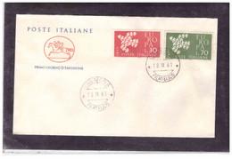 FDC6191  -   CREMONA  18.9.1961  /   FDC   EUROPA  1961 - F.D.C.