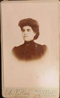 Algérie, Photo-Carte Visite, CDV, Photographe A.Nathan à Mascara (1900 Et +), Identifiée Louisette Blazy épouse Pasquet - Persone Identificate