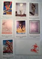 Postkartenserie 50 Jahre Ende 2. Weltkrieg Plakate Reproduktionen 1995 + Erklärungsbuch - Collections, Lots & Séries
