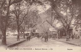 CARTE POSTALE ORIGINALE ANCIENNE : SAINT REMY DE PROVENCE  LE BOULEVARD MARCEAU  ANIMEE BOUCHES DU RHONE (13) - Saint-Remy-de-Provence