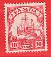 Nr. 22 X (Falz)  Deutschland Deutsche Kolonie Samoa - Colony: Samoa