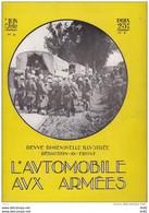 L AUTOMOBILE AUX ARMEES JUIN 1917 NUMERO 8 - French