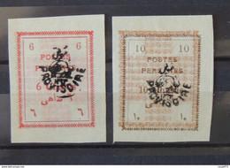 01 - 21 - Iran - Poste Persanne 1906 - N° 246 + 247 (*) - No Gum - Iran