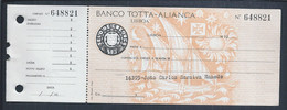 Check From Banco Totta & Aliança. CUF Group. Caravel. Controleer. Sun. Cross Of Christ. Discoveries Ship. - Cheques & Traverler's Cheques