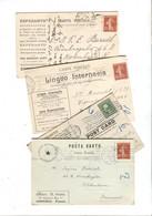 ESPERANTO 4 Postcards Sent To Denmark 1912-1913 - Esperanto