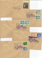 IRELAND - 1981 - Set Of 5 Golf Covers - Carrolls Irish Open Golf Tournament - Special Postmark - 12th-16th August 1981 - Covers & Documents