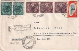 ROUMANIE 1954 LETTRE RECOMMANDEE DE BUCAREST AVEC CACHET ARRIVEE EBINGEN - Covers & Documents