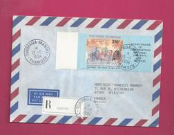 Lettre Recommandée De 1994  Pour La France. YT N° 456 Avec Vignette - Storia Postale